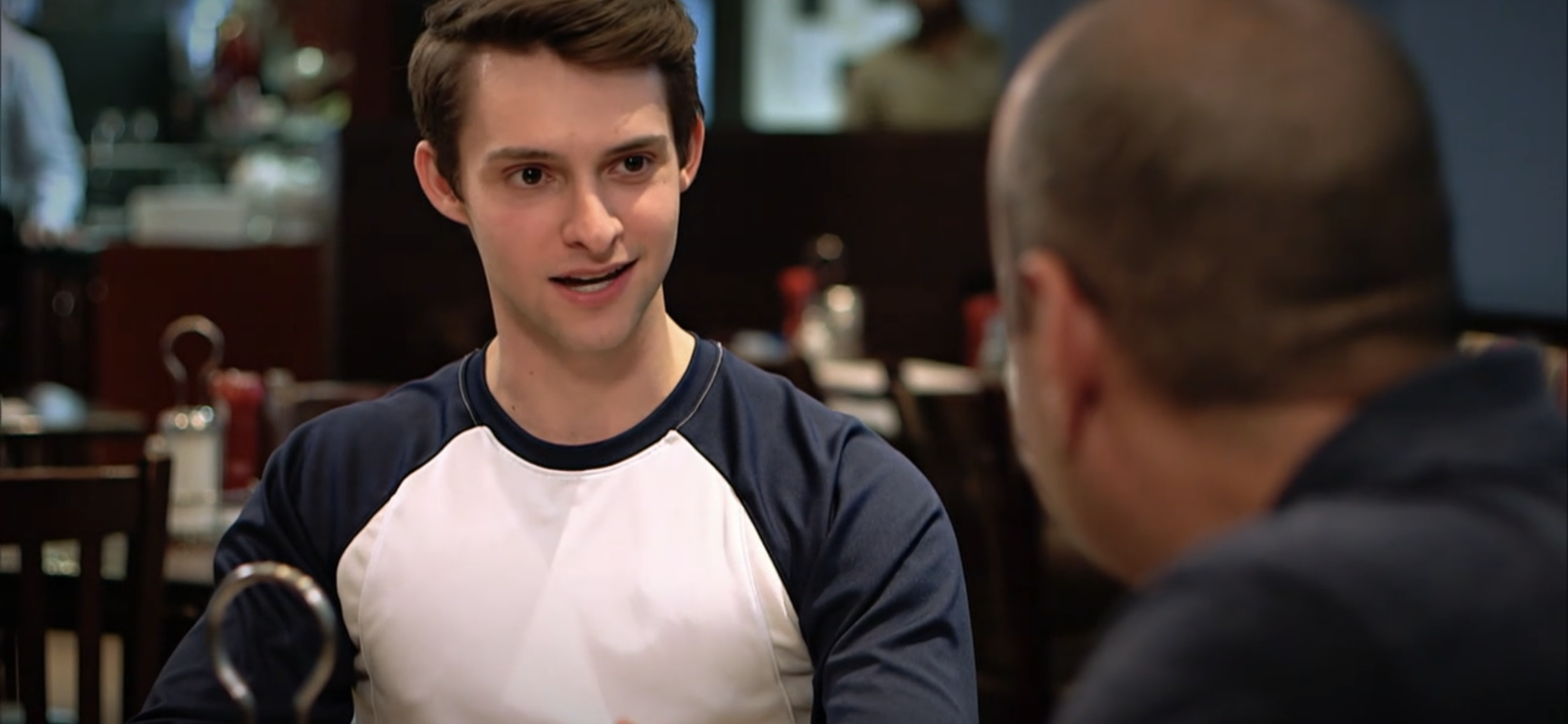 An actor portrayed a gay athlete coming out to his coach