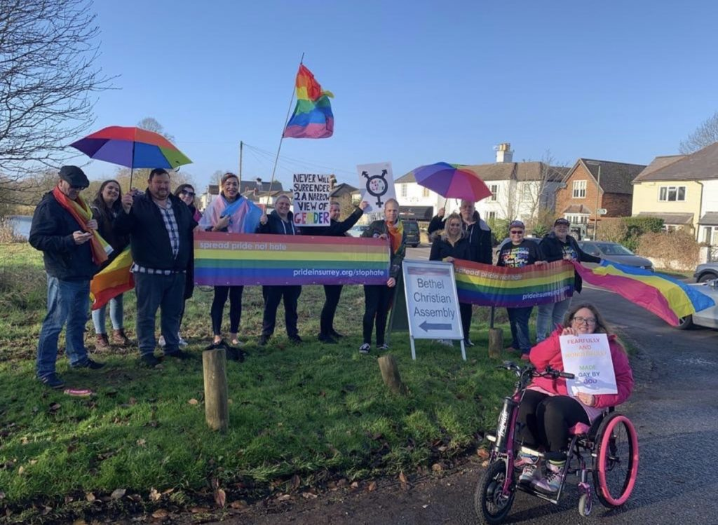 Christian conversion therapy group ejected by village after infiltrating Pride