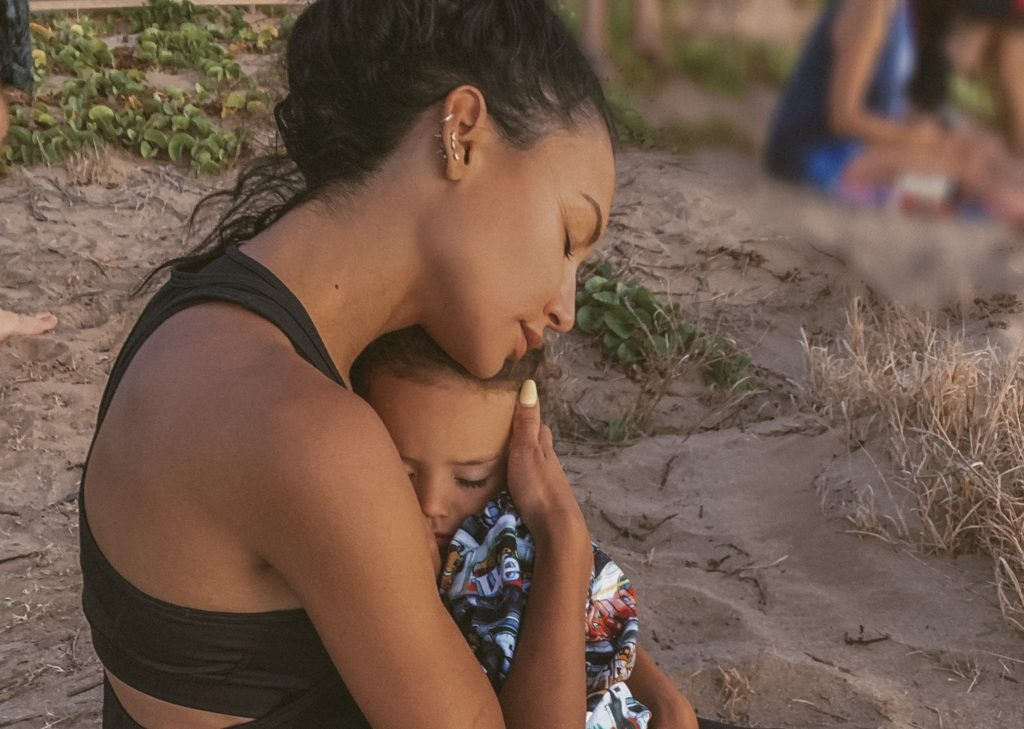 Naya Rivera with her four-year-old son, Josey Hollis