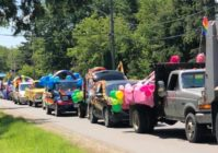 Cars packed a road in Emo, Ontario, Canada, as part of an Pride 'ambush' after town officials asked why there is no 'Straight Pride'. (Borderland Pride)