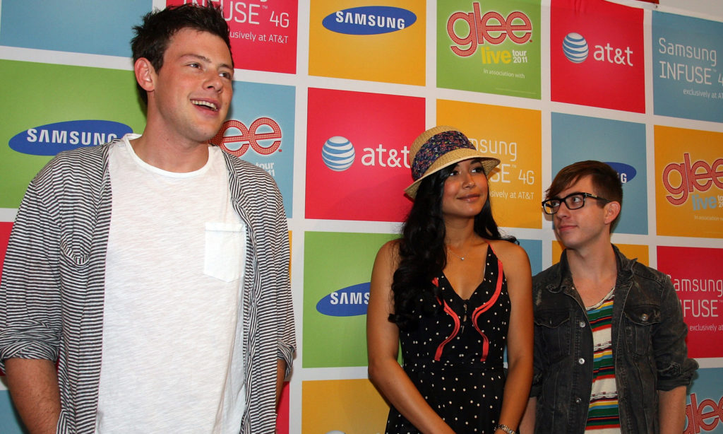 (From L to R) Cory Monteith, Naya Rivera and Kevin McHale. (Gail Oskin/WireImage for Samsung)