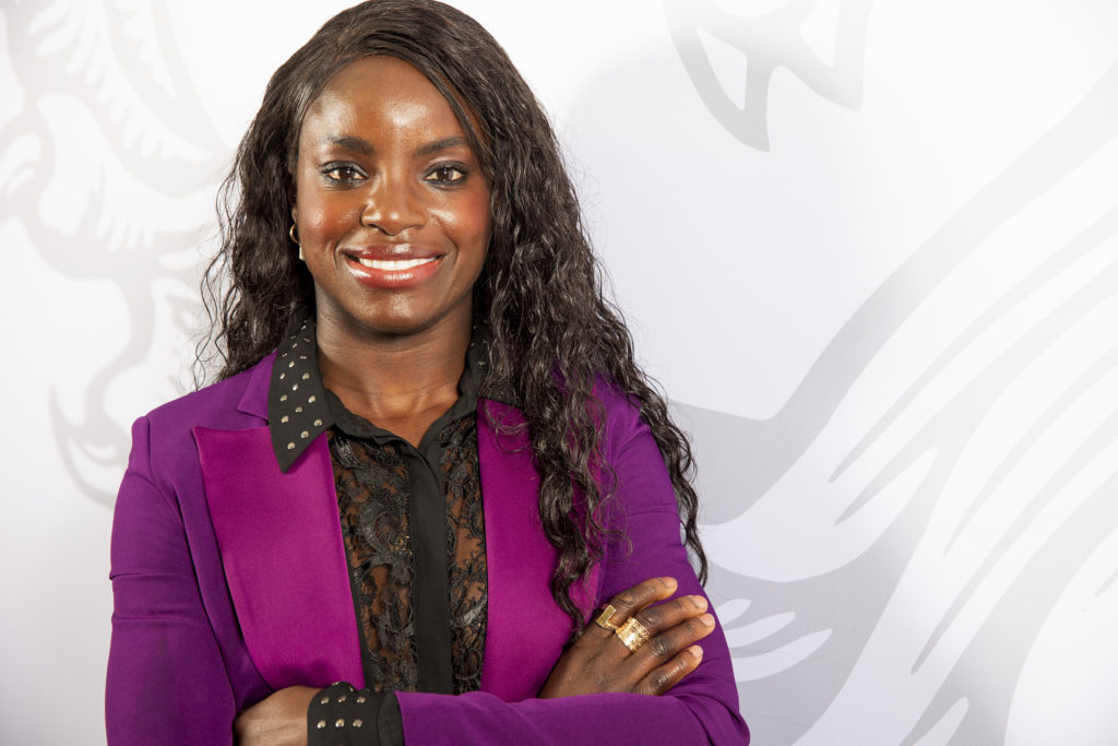 Eniola Aluko, sporting director of Aston Villa Women. (Neville Williams/Aston Villa FC via Getty Images)