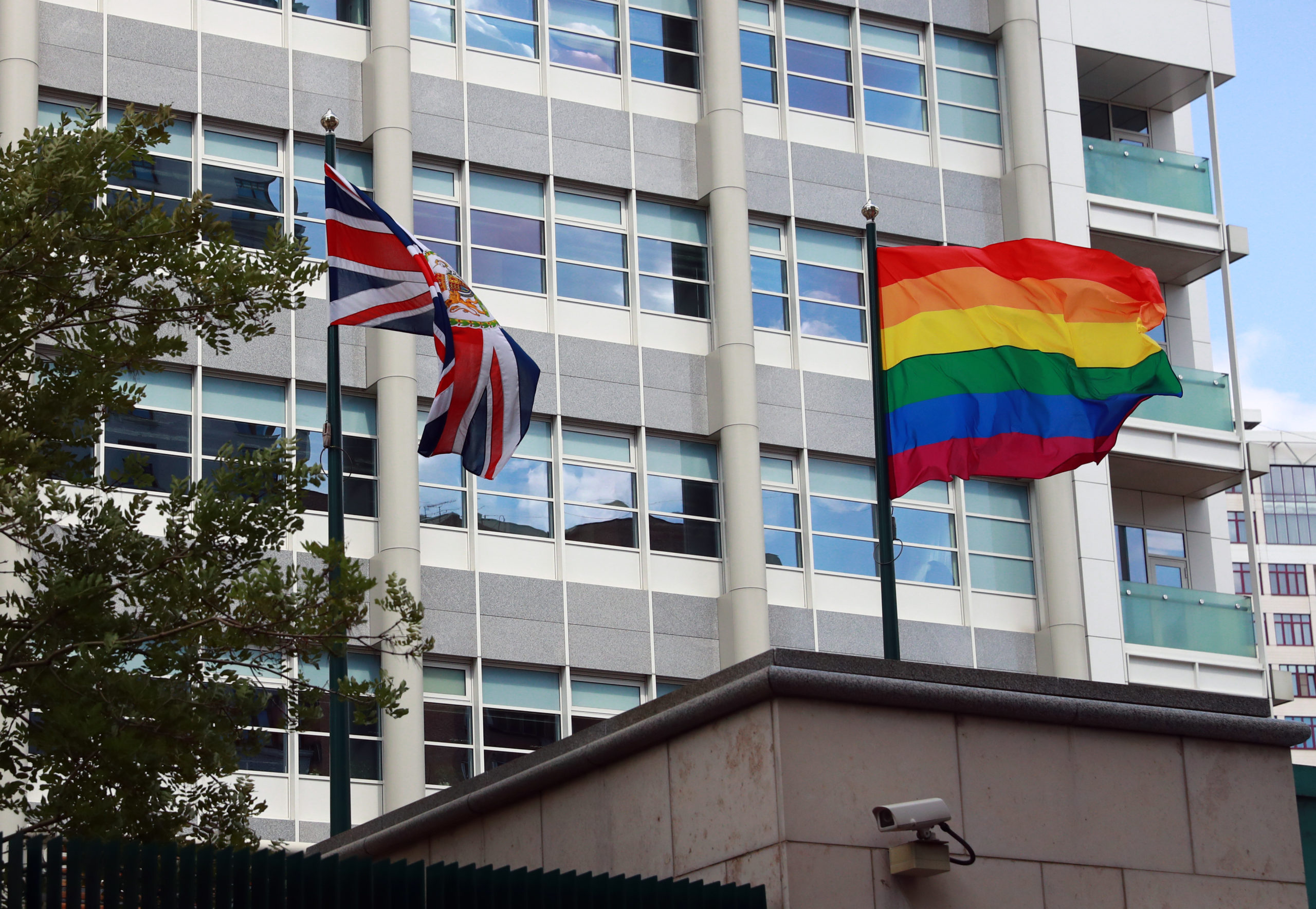 UK embassy Moscow Russia Pride flag