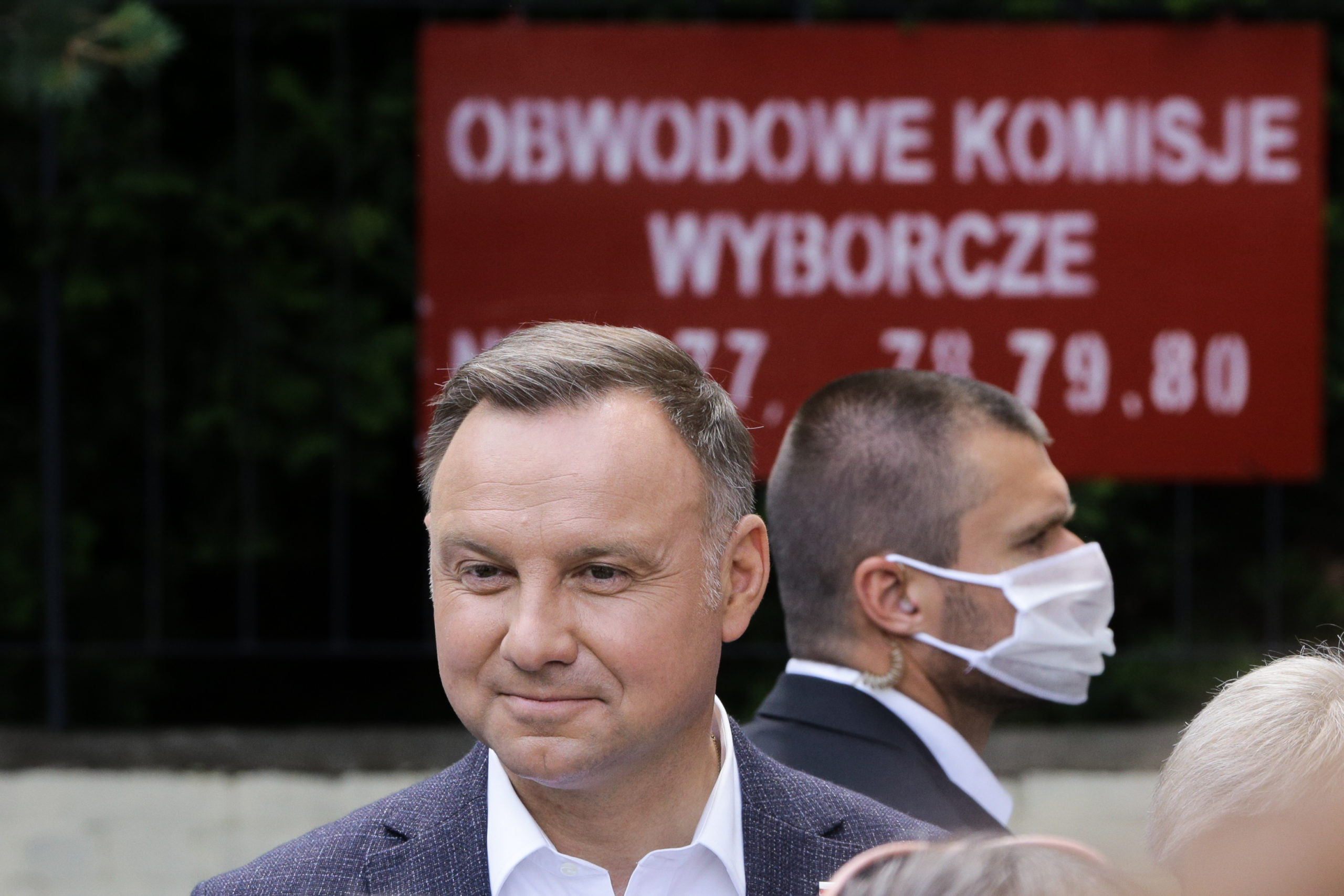President of Poland, Andrzej Duda seen after voting.