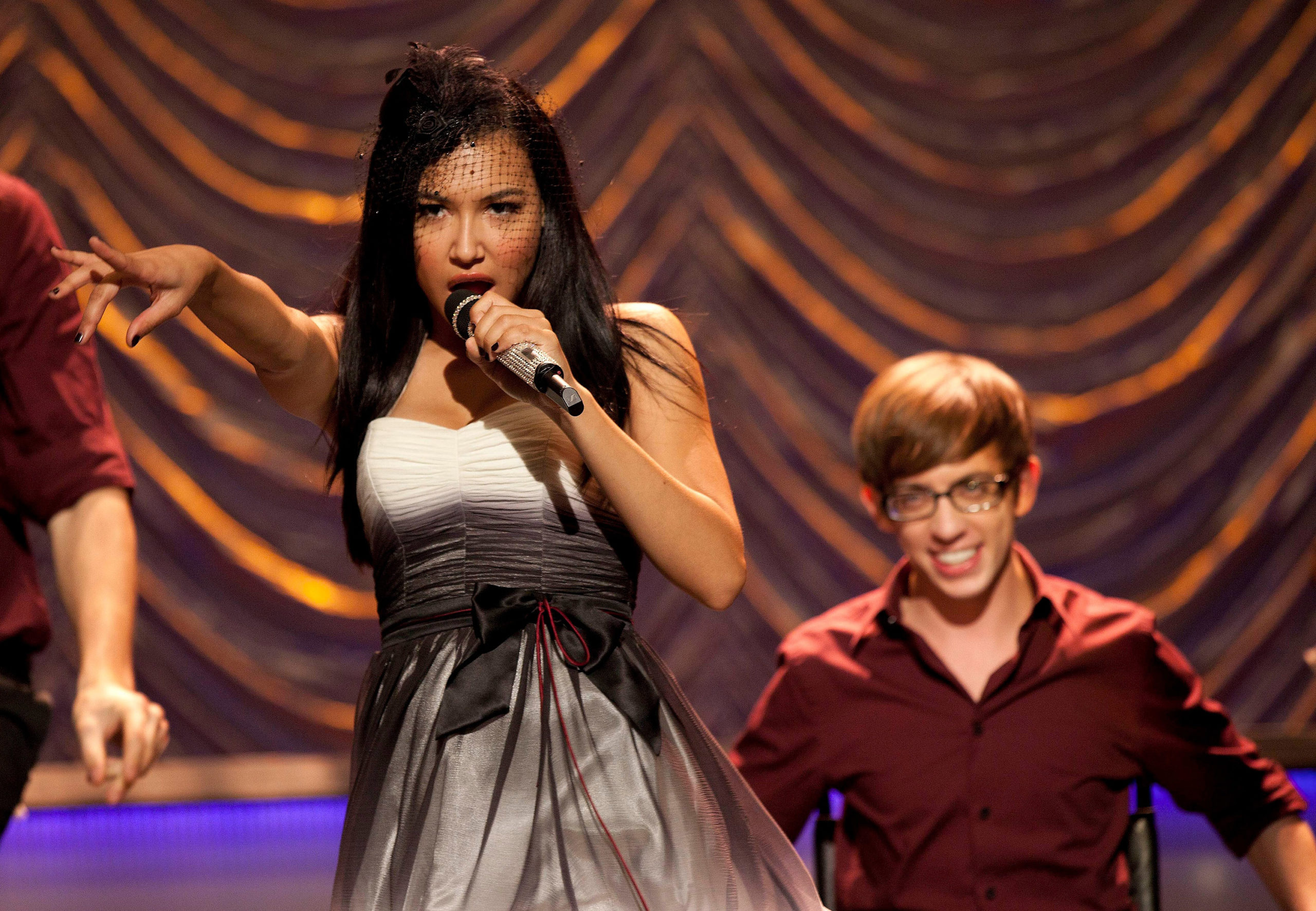 Naya Rivera and Kevin McHale on Glee.