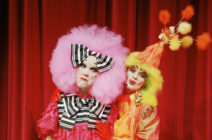 Richard Cawley (left) and Richard Westcott are the 'Ugly Sisters' in a production of a Cinderella pantomime at the White Rock Theatre in Hastings. (Gideon Mendel/Corbis via Getty Images)
