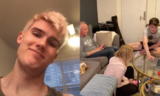 Brennan Gregg came out to his parents in the most ingenious way. (Screen captures via TikTok)