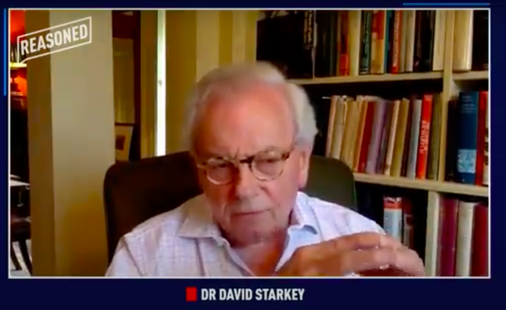 David Starkey. (Screen capture via YouTube)