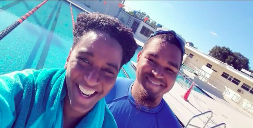 Ghenete Wright Muir and her son were swimming laps in a Fort Lauderdale pool when a Karen traded barbs with them. (Screen capture via NBC6)