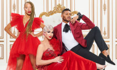Stacey McKenzie, Brooke Lynn Hyes and Jeffrey Bowyer-Chapman