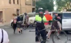 Footage of New York Police Department officers shoving a trans femme protesters into an unmarked van has flared tension between Black Lives Matter demonstrators and law enforcement even further. (Screen captures via Twitter)