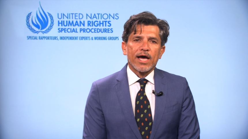 Victor Madrigal-Borloz, the UN's independent expert on protection against violence and discrimination based on sexual orientation and gender identity