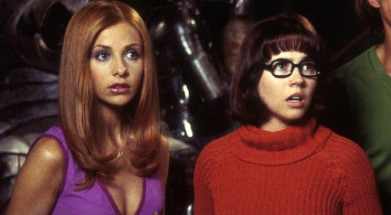 Daphne and Velma kissed in the original film, but the scene was cut