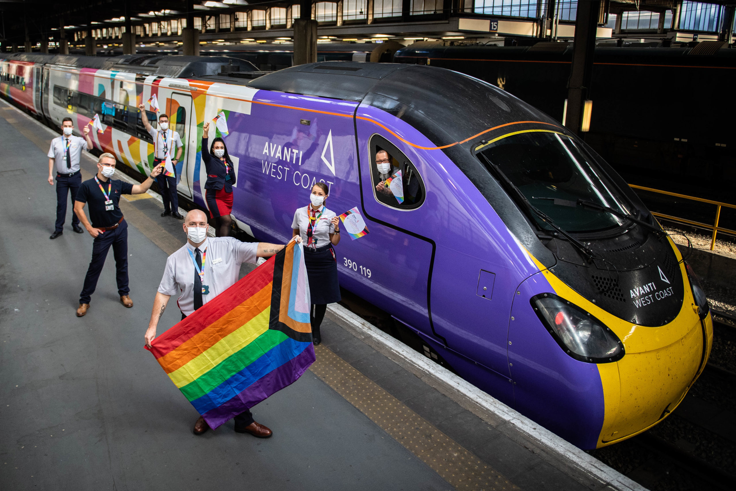 The train was waved off by Avanti West Coast staff and members of the LGBTQ+ community at Euston on Tuesday 25 August.