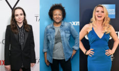 (L-R) Ellen Page, Wanda Sykes and Kate McKinnon – lesbian royalty all deserving of their own eponymous talk shows. (Getty)