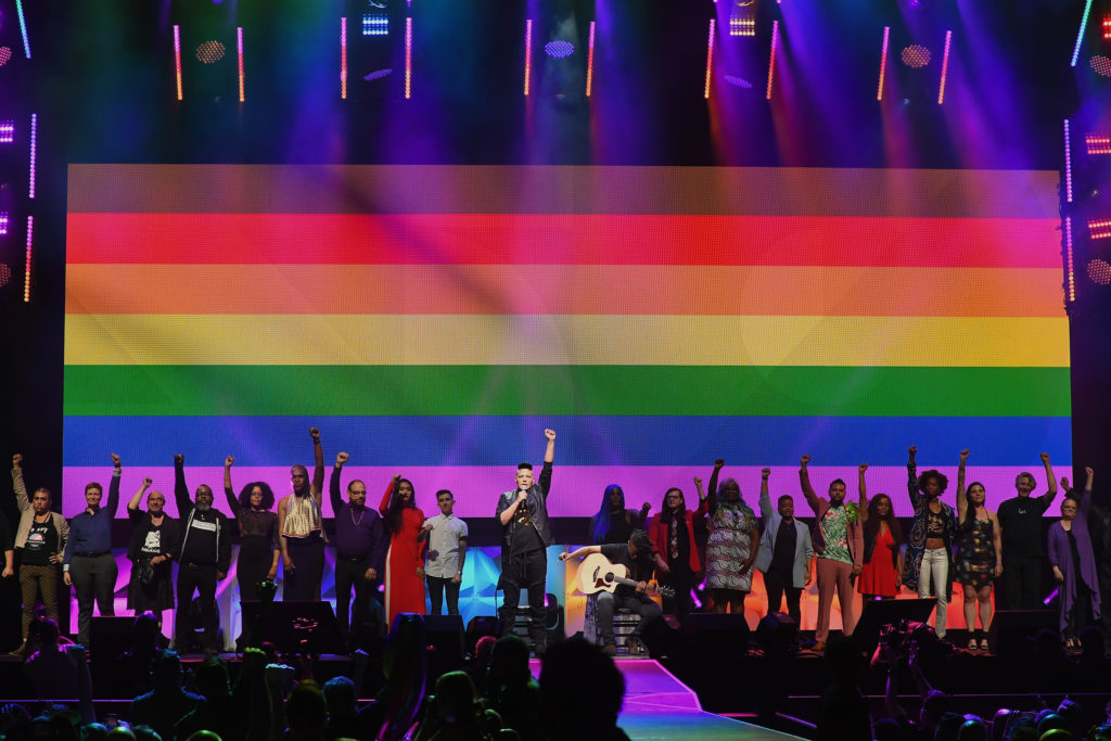 Sara Ramirez performs at the WorldPride NYC 2019 Opening Ceremony. (Nicholas Hunt/Getty Images)