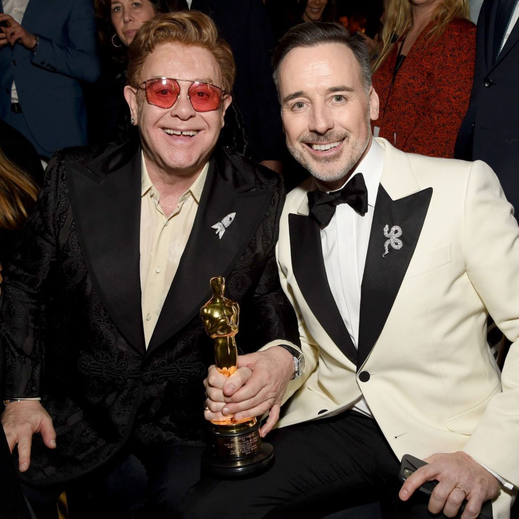 Elton John with his husband David Furnish