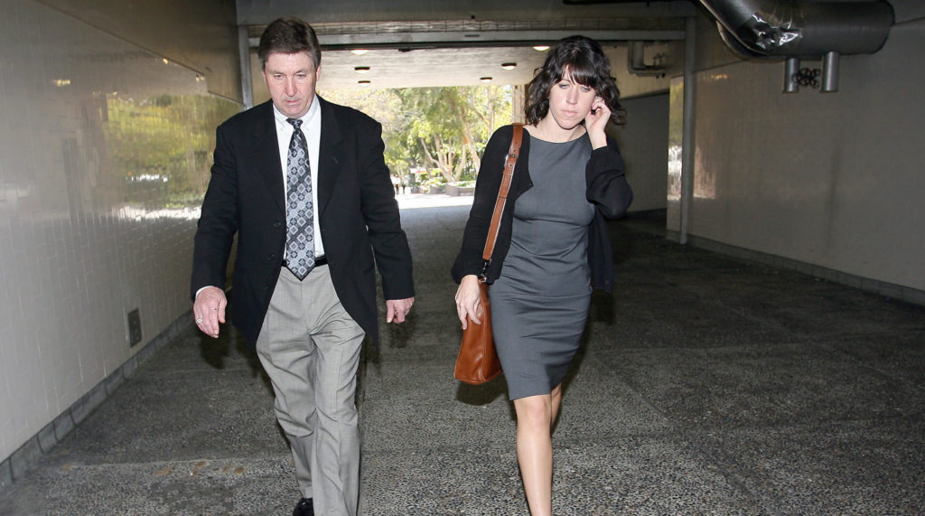 Britney Spears' father, Jamie Spears leaves the Los Angeles County Superior courthouse on March 10, 2008. (VALERIE MACON/AFP via Getty Images)