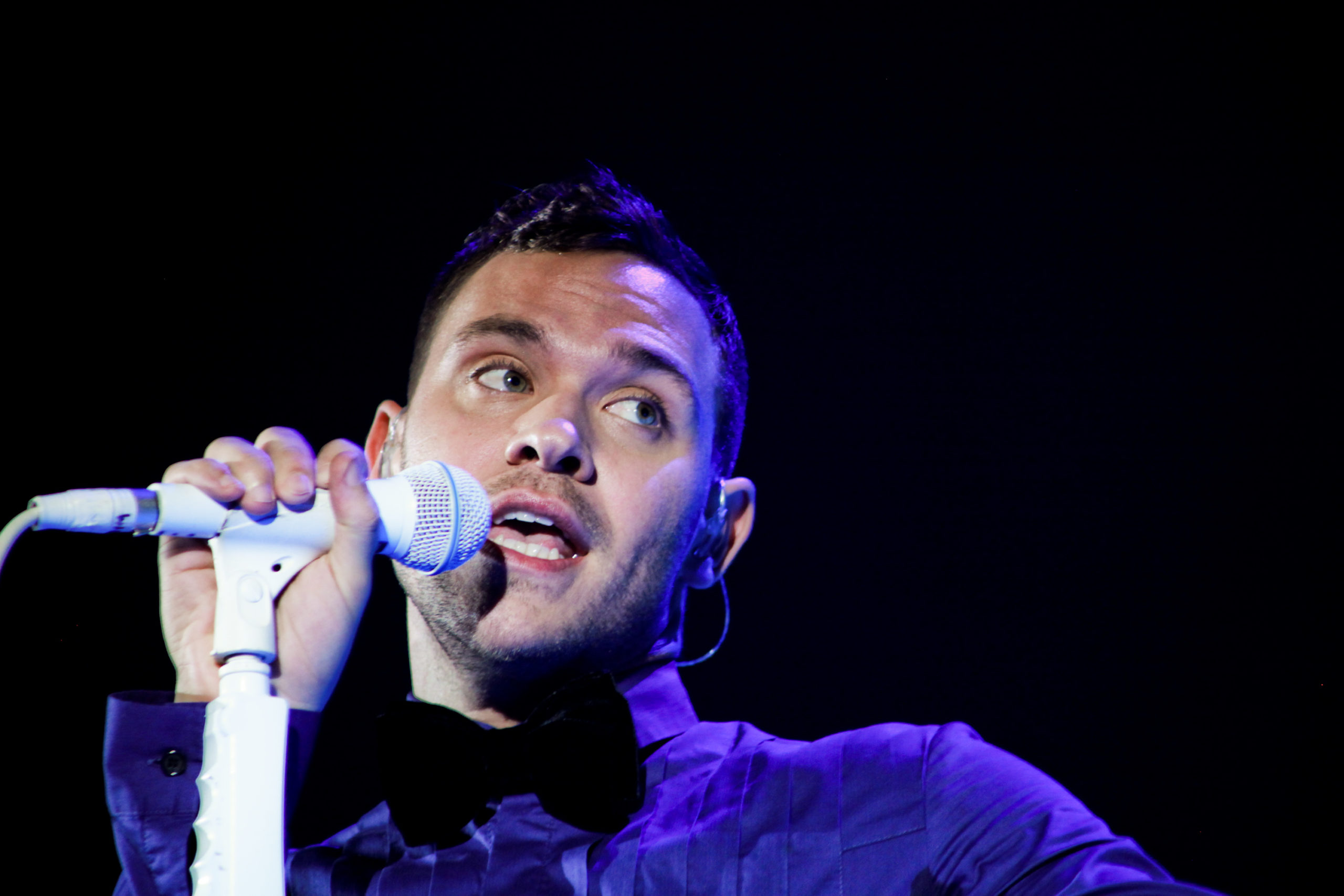 Will Young performs on stage at Hammersmith Apollo on November 21, 2009 in London, England.