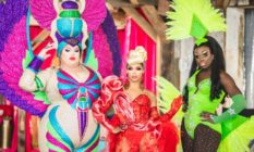 Eureka, Shangela and Bob the Drag Queen