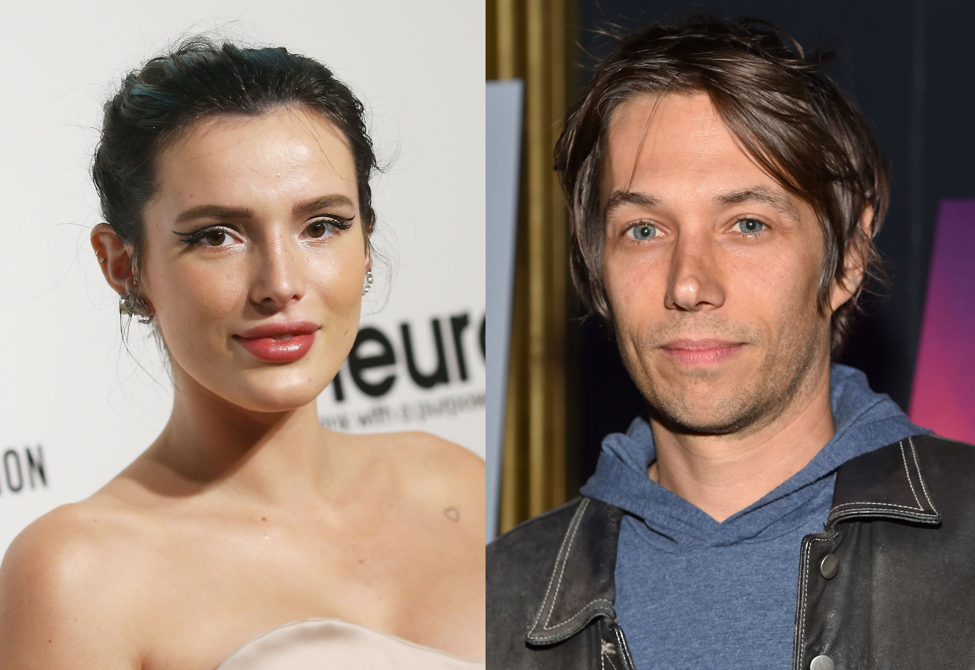 Sean Baker (right) insisted he is not making a film about OnlyFans with Bella Thorne