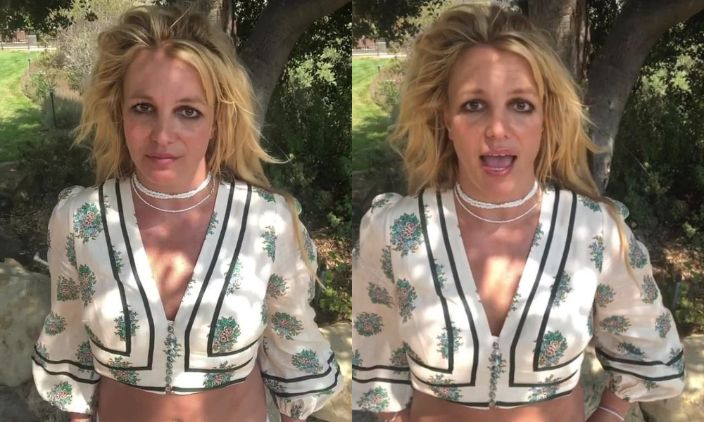 Britney Spears thanks fans for being supportive in a new instagram post. (Screen captures via Instagram)