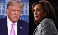 Donald Trump and Kamala Harris