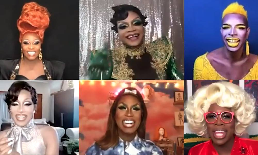 Asia O'Hara, Heidi N Closet, Yvei Oddly, Monet X Change, Shea Couleé and Jaida Essence Hall