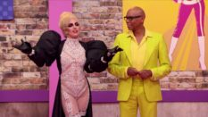 Lady Gaga and RuPaul in the Drag Race werk room