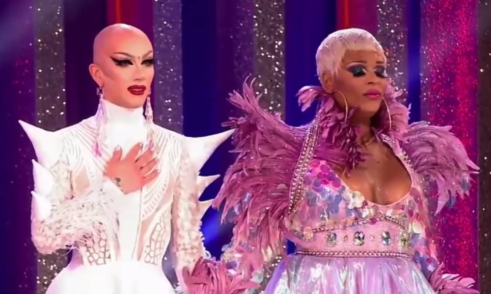 Sasha Velour and Peppermint at the Drag Race finale.