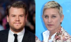 James Corden and Ellen DeGeneres