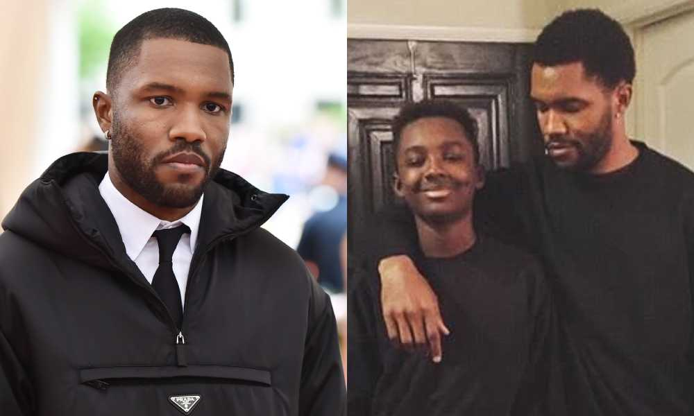 Frank Ocean with his arm around his brother Ryan