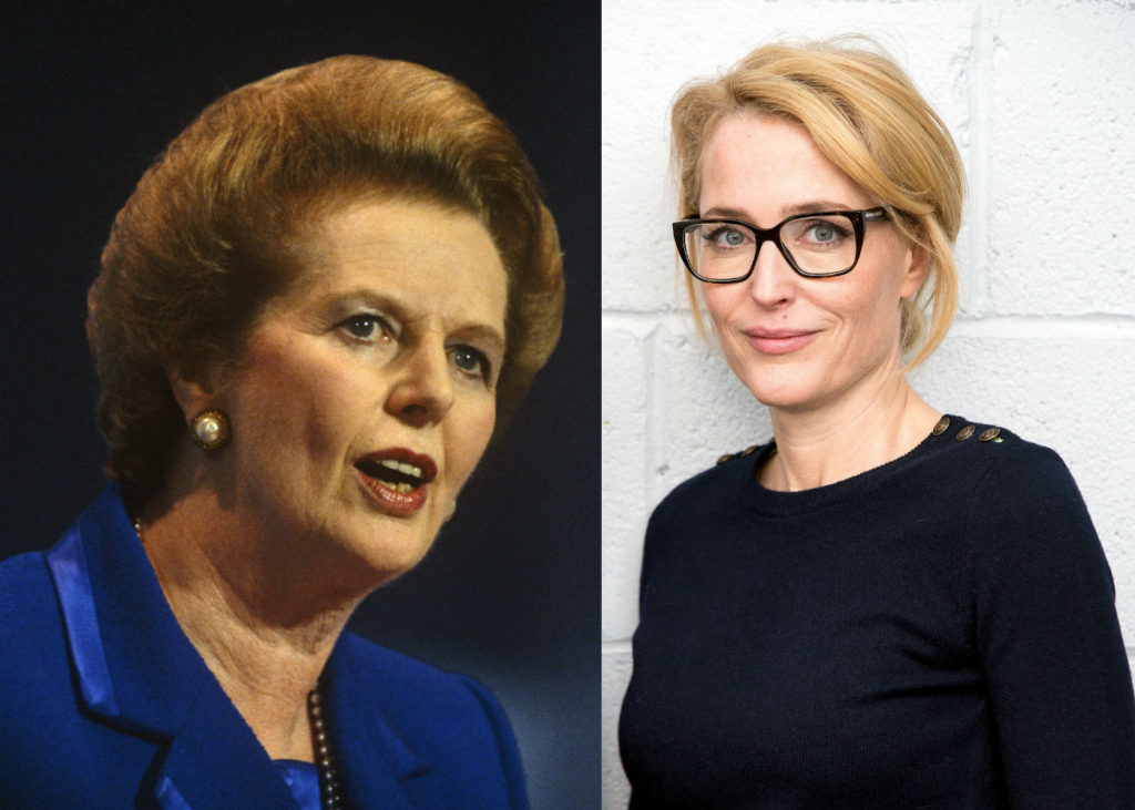 Margaret Thatcher and Gillian Anderson