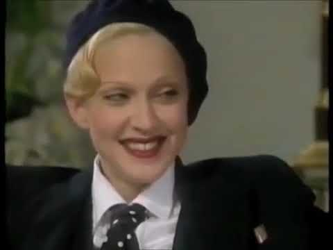 Madonna on Jonathan Ross Presents in 1992. (Screen capture via YouTube)