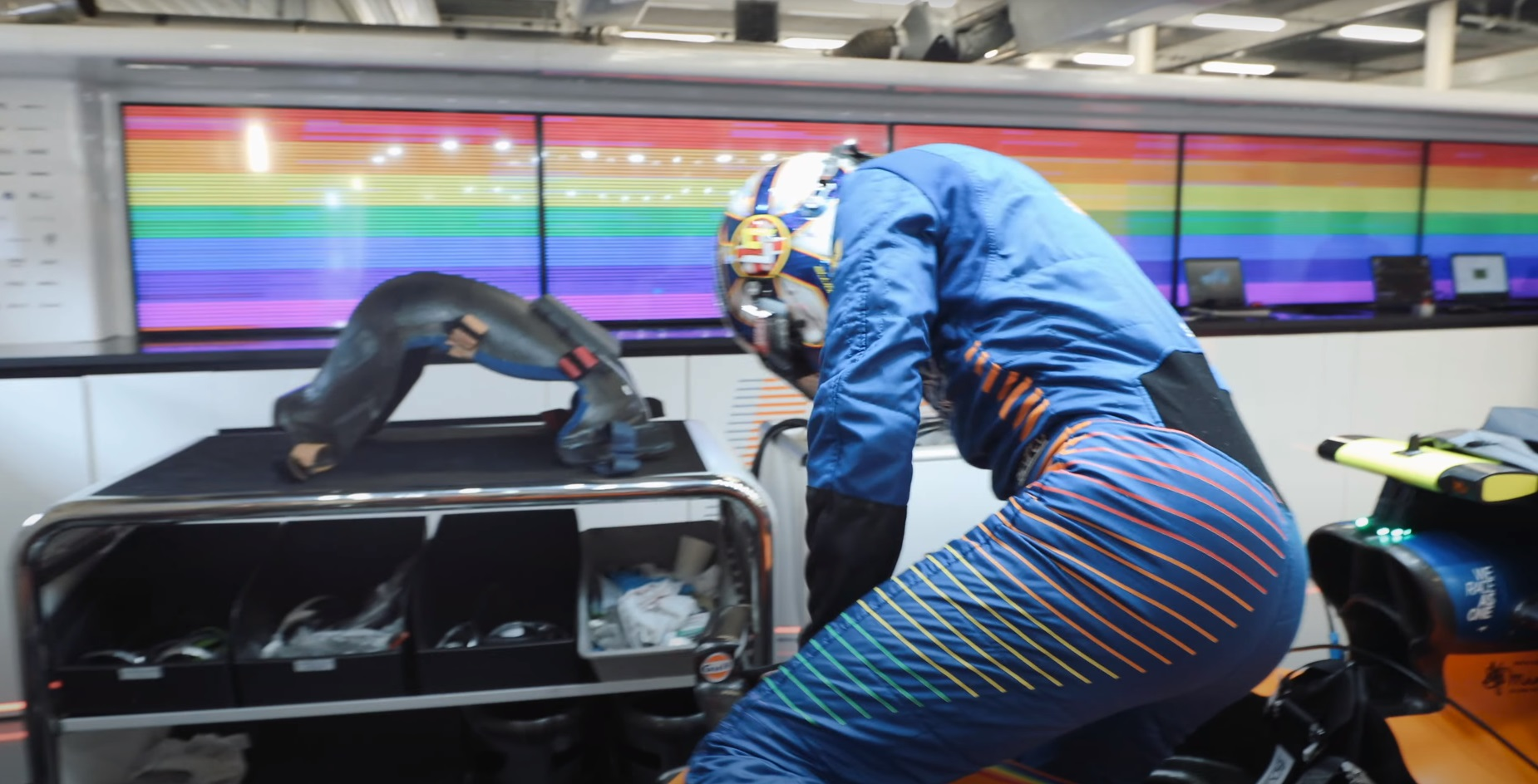 Formula 1 driver Lando Norris has donned a new rainbow-themed race suit, but apparently it's not intended to be a symbol for LGBT+ rights.