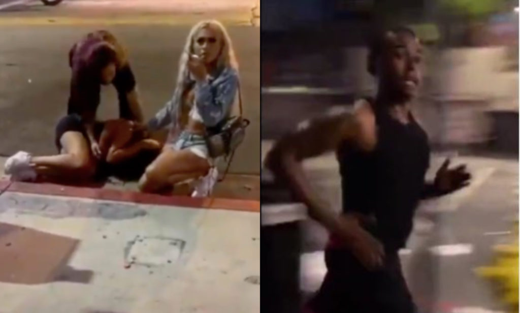 Eden the Doll, Jaslene White Rose and Joslyn Flawless were all robbed by a group of men in Los Angeles. Police are hunting for one of the men (R) and are treating it as a hate crime. (Instagram/LAPD)