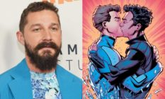 Shia LeBeouf / Iceman kissing his boyfriend