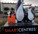 Penguin statue vandalised with vile homophobic slurs and swastikas