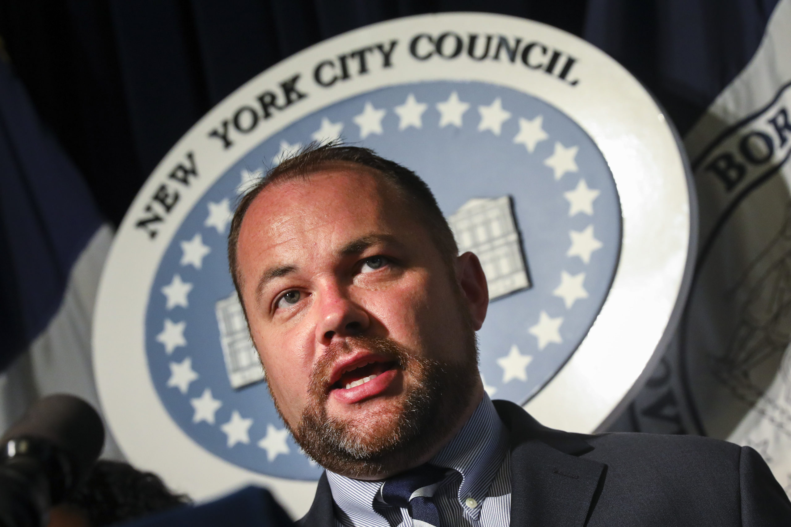 New York City Council Speaker Corey Johnson. (Drew Angerer/Getty Images)