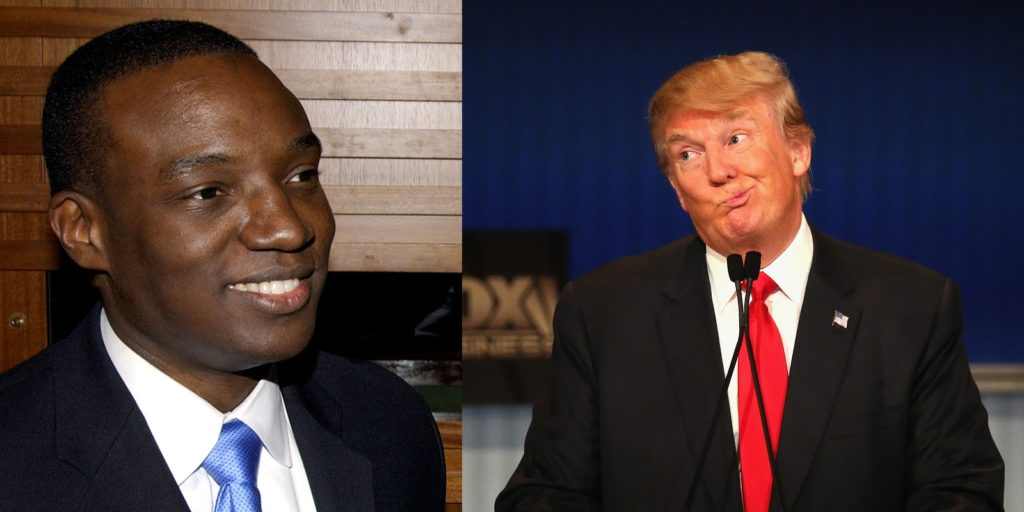 """Donald Trump allegedly referred to gay Apprentice contestant Kwame Jackson as a """"Black f*g""""."""