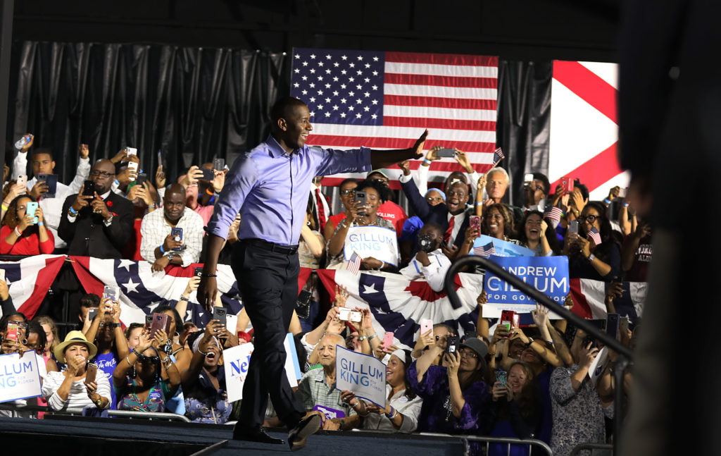 Former Florida Democratic gubernatorial candidate Andrew Gillum, a name once floated to be on the 2020 vice-presidential ticket. (Joe Raedle/Getty Images)