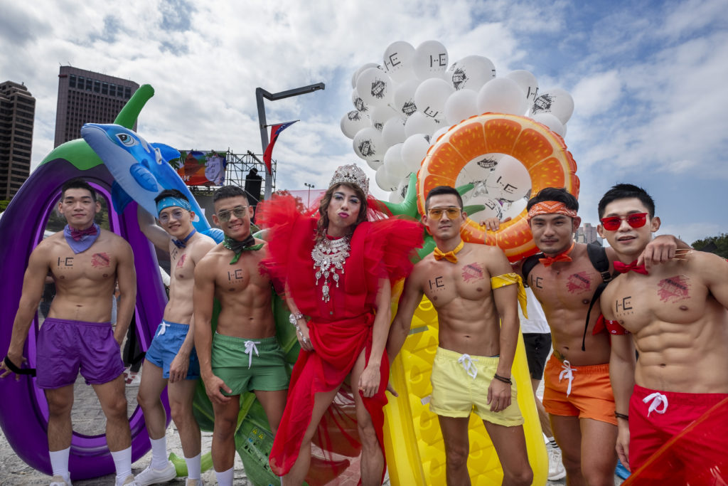 The colorful parade is the first held after the Taiwan government formally legalised marriage among people of the same sex.