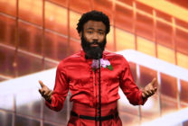 Donald Glover speaks onstage during the 2019 British Academy Britannia Awards