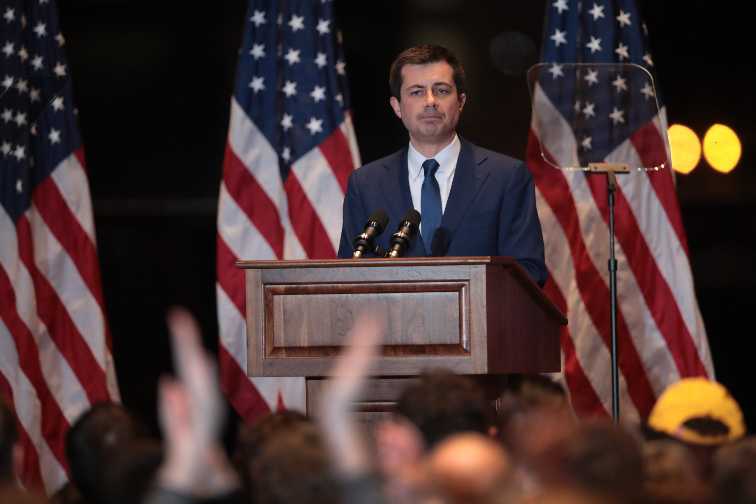Former South Bend, Indiana Mayor Pete Buttigieg announces he is ending his campaign to be the Democratic nominee for president on March 1, 2020