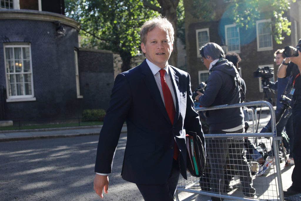 Britain's Transport Secretary Grant Shapps stressed the importance of combatting climate change. His voting record says otherwise, however. (TOLGA AKMEN/AFP via Getty Images)