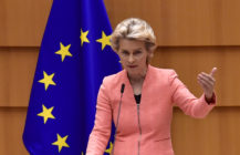 The President of the European Commission Ursula Von der Leyen