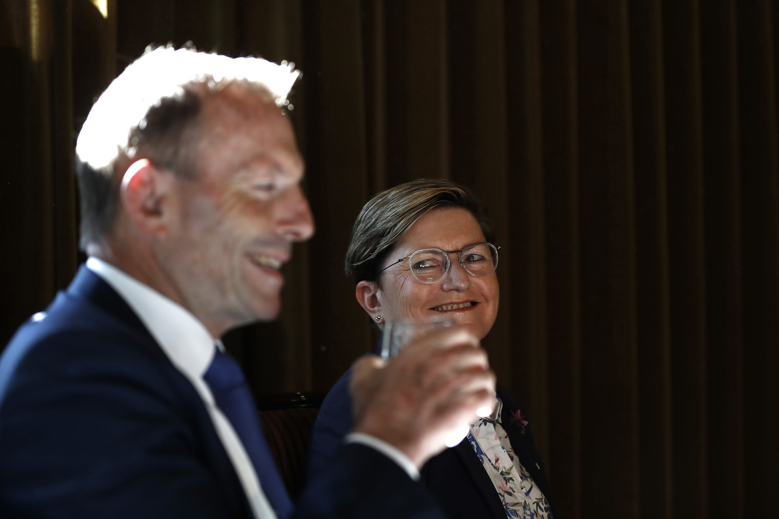 The lesbian sister of Tony Abbott, Christine Forster, has defended the former premier amid claims he is 'homophobia'. (Ryan Pierse/Getty Images)