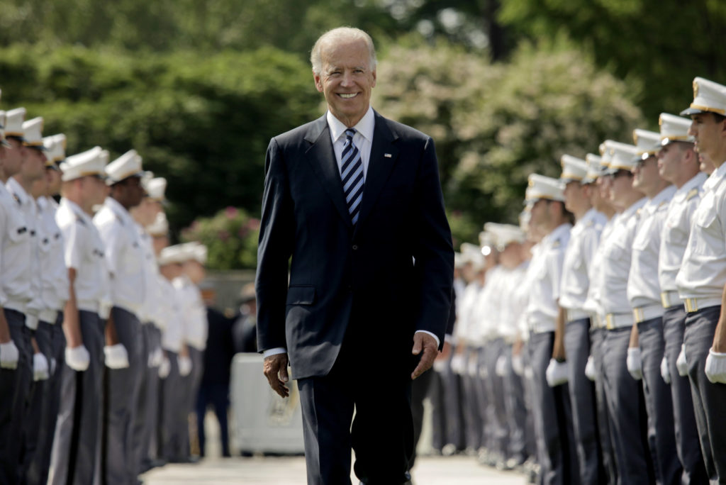 Joe Biden has pledged to end Donald Trump's ban on trans people serving in the US Military. (Lee Celano/Getty Images)