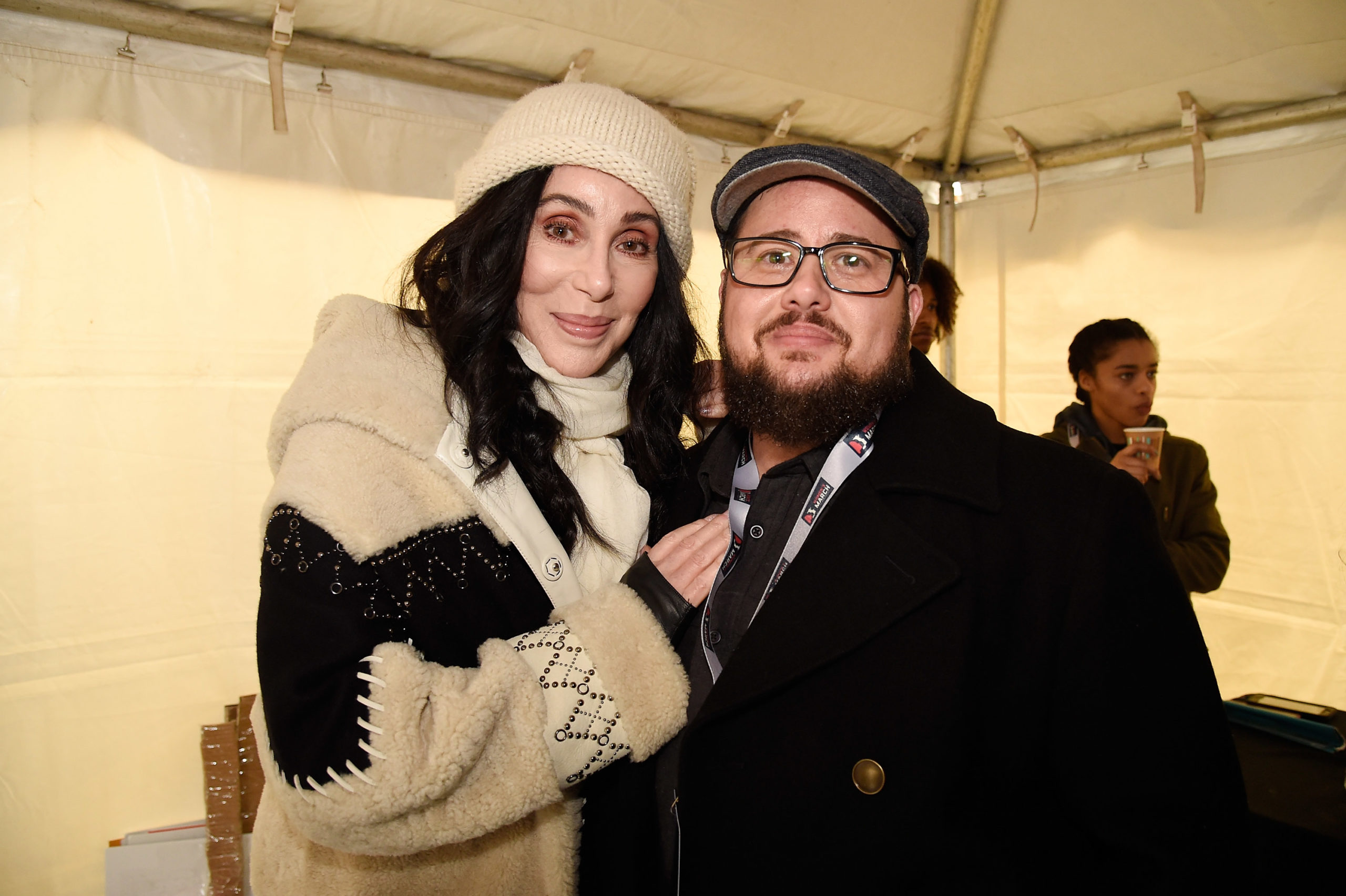Cher with her son Chaz Bono