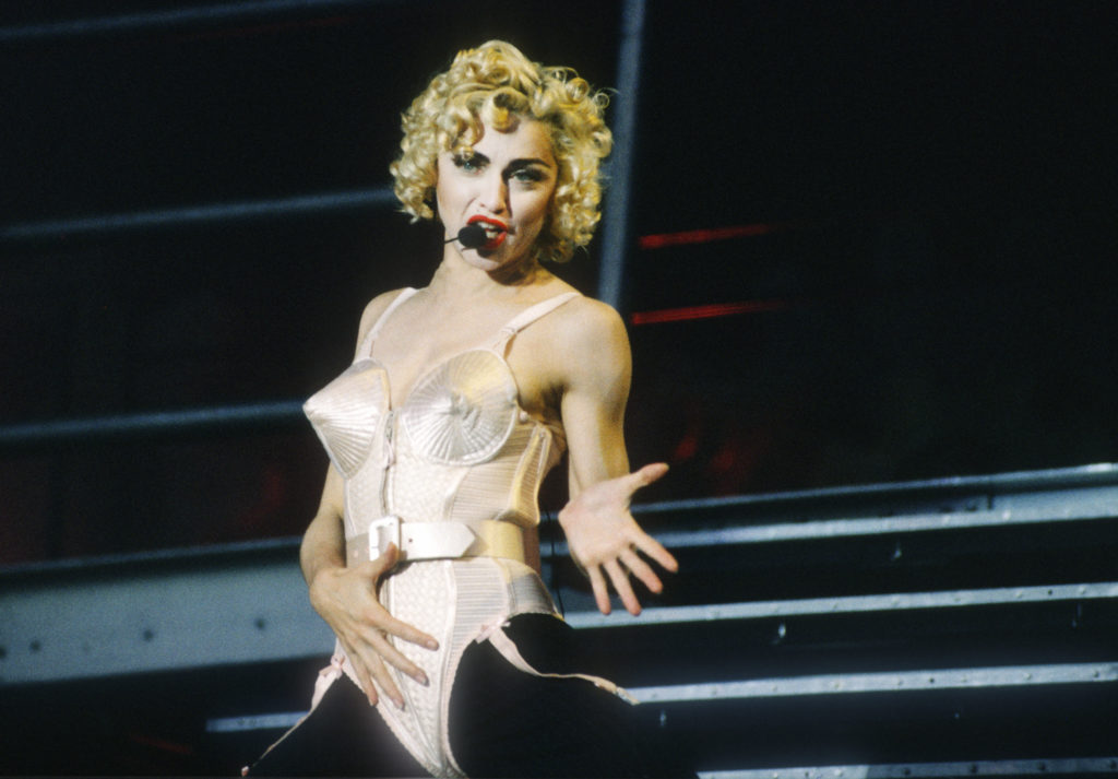 Madonna's some forty years-long career is to be made into a biopic that she herself with co-write and direct. (Gie Knaeps/Getty Images)